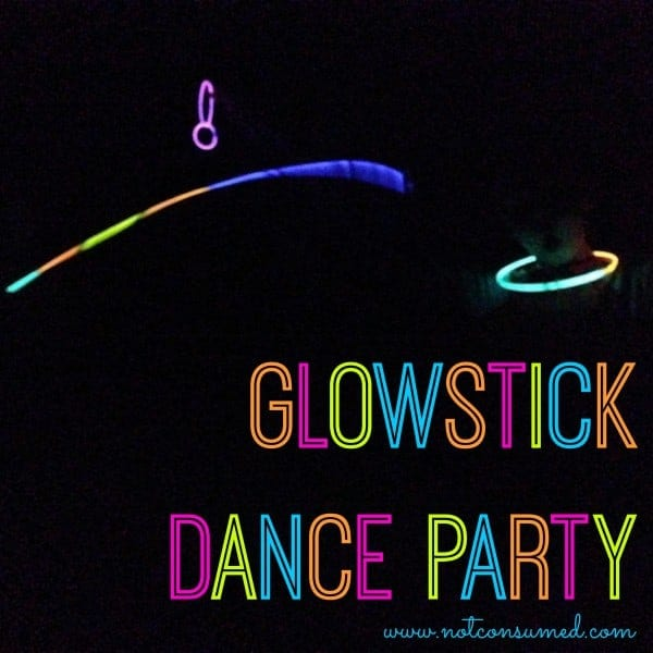 Glowstick Dance Party. Mom, you've never had this much fun before!