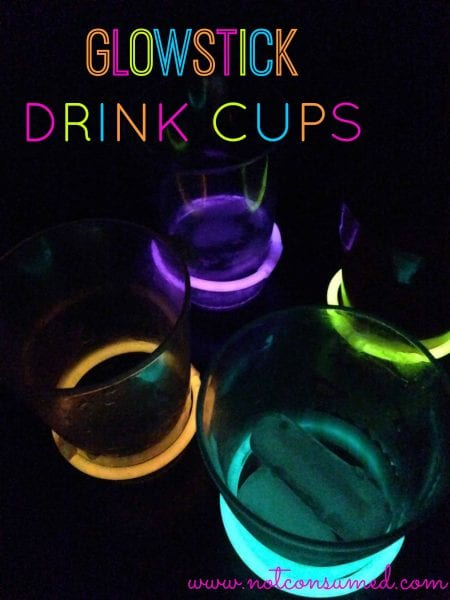 Glowstick Drink Cups...because you are going to need a little water when you are having this much fun!