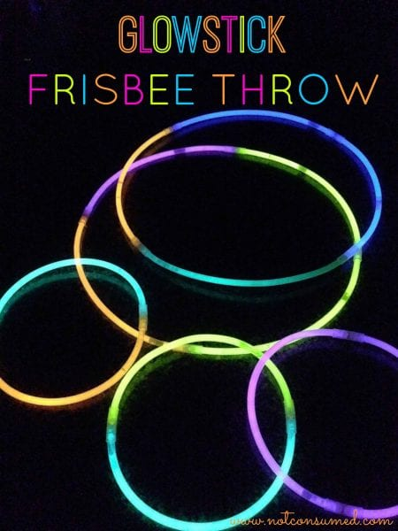 Glowstick Frisbee Throw...once you start you just can't stop!
