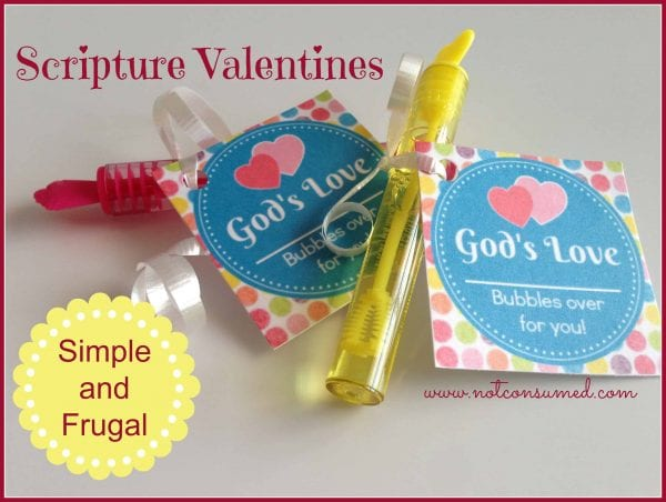 Frugal and Simple Scripture Valentines. FREE printable.