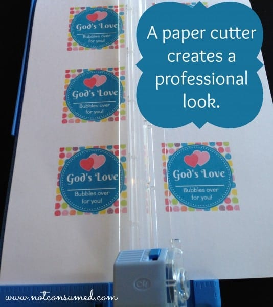 A paper cutter: professional look.