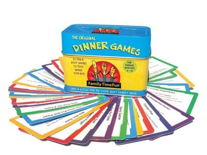 Family Fun dinner games and activities. I love this!!