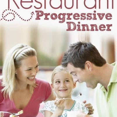 Family Fun Night Progressive Dinner with FREE printables