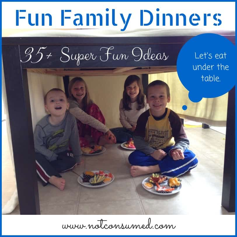 35+ Super fun ideas for your next family dinner. Make lasting memories with little effort! Plus a Fondue pot giveaway!