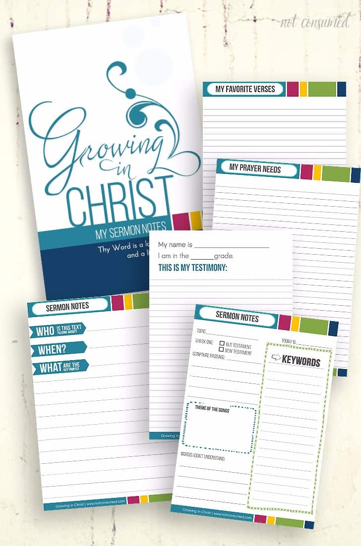 Are you looking for a better way to help your child learn during the sermon? This FREE printable sermon notebook is the perfect solution to helping your child grow in Christ!