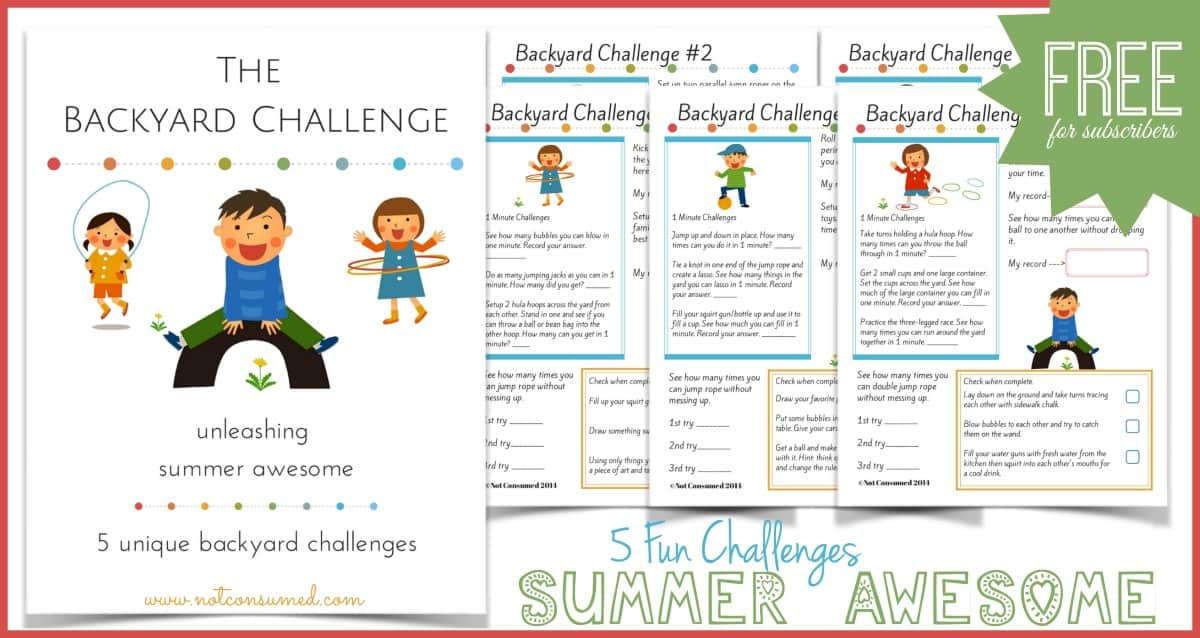 Backyard challenge- 5 unique challenges using simple backyard toys = summer AWESOME!