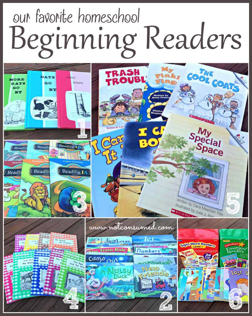 Top choice homeschool beginning readers for kindergarten and first grade. Wholesome and quality literature included!