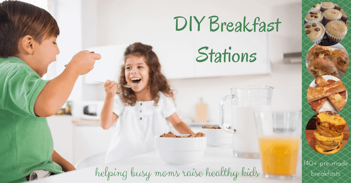 breakfast stations for morning routine