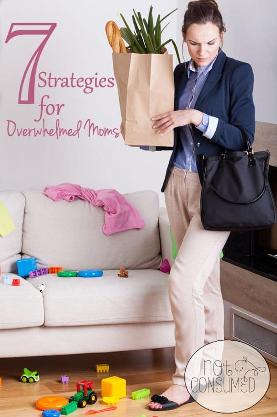 Do you ever feel like you just can't do this for one more minute? Oh sweet friend, we can overcome that feeling with these 7 strategies for overwhelmed moms!