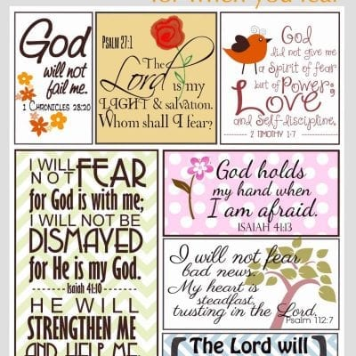Scripture for When You Are Fearful