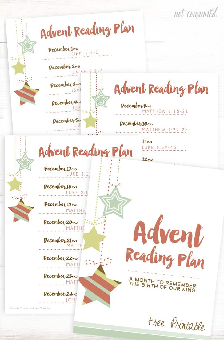 printable advent reading plan. Black Bedroom Furniture Sets. Home Design Ideas