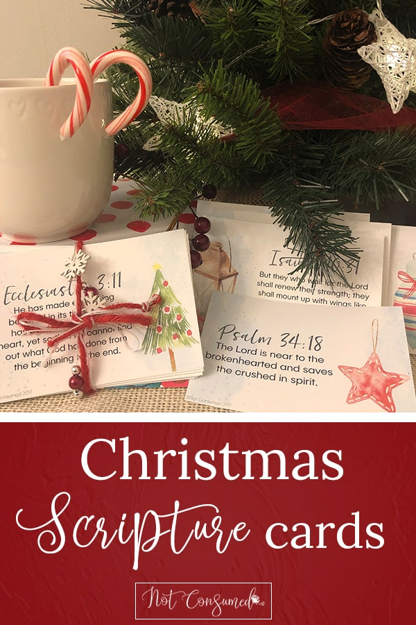 Christmas Scripture Cards