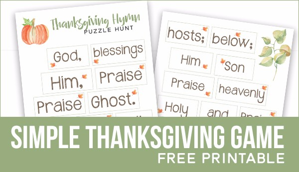 thanksgiving hymn puzzle hunt