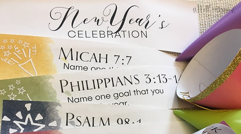 New Year\'s Celebration Scripture Printables