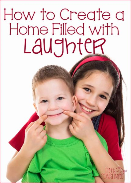They say laughter is the best medicine. Do you want to create a safe and healthy environment for your family? If so, laughter is a key element! See how we create opportunities to laugh out loud in our home.
