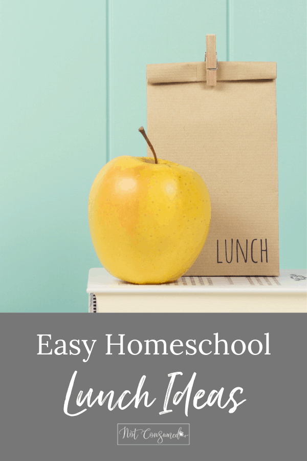 homeschool lunch ideas