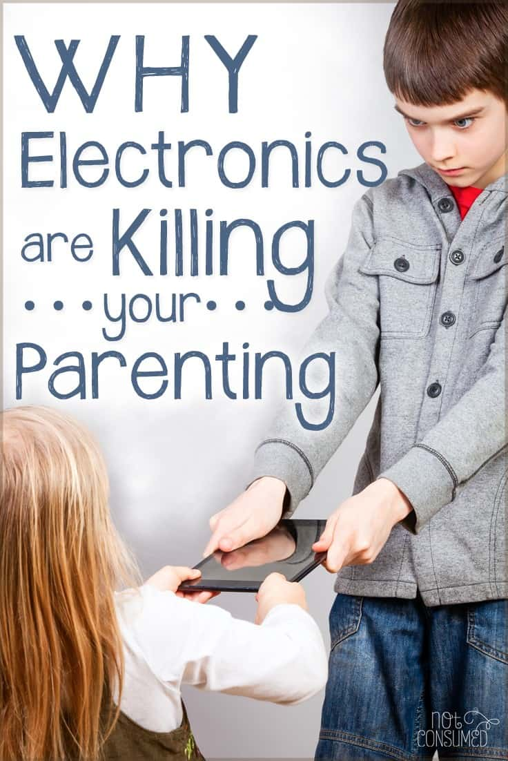 Maybe you're like me and you thought the occasional use of the ipad was going to be fine. It probably still is, but it's wise to be aware of how it affects the way we parent. Are you guilty, too?