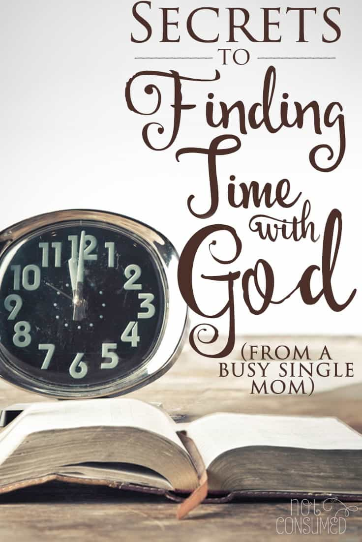 Most of us think we are simply too busy to have a consistent quiet time with the Lord. Diapers, lunches, algebra. The list goes on. I learned that too busy for God equaled disaster. Grab a cup of coffee and let's chat. I'll tell you my story and I'll show you all my busy mom secrets for finding time with God.