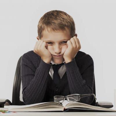 child struggles with math