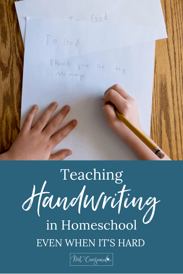 homeschool handwriting