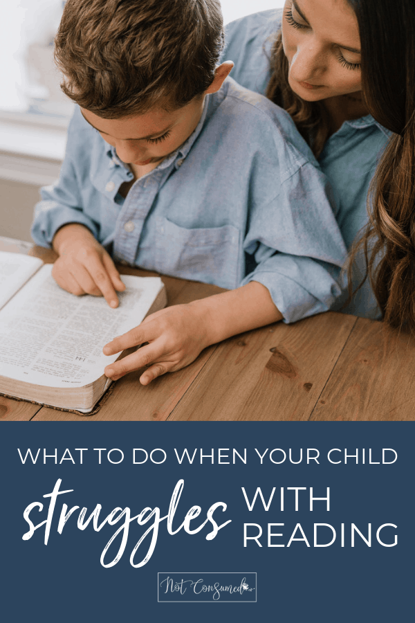 What to do when your child struggles with reading