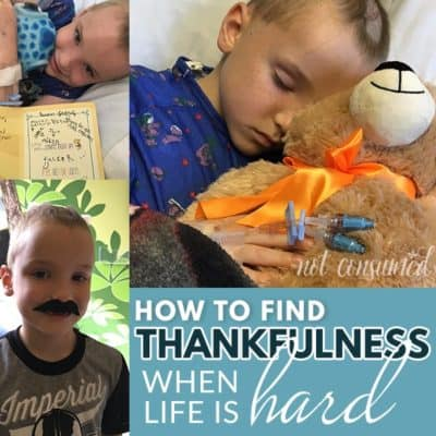 How to find thankfulness when life is hard
