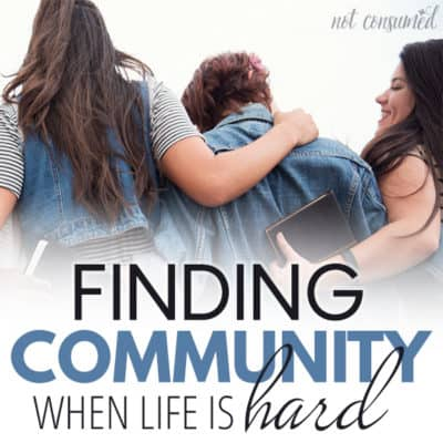 Finding community when life is hard