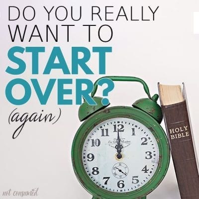 Do you really want to start over?