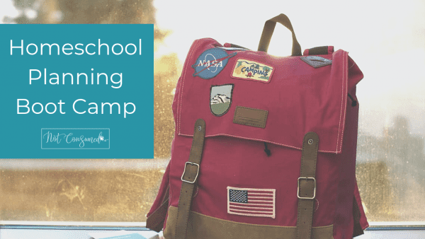 homeschool planning boot camp