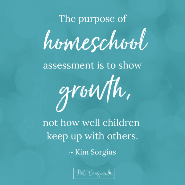 homeschool assessment quote