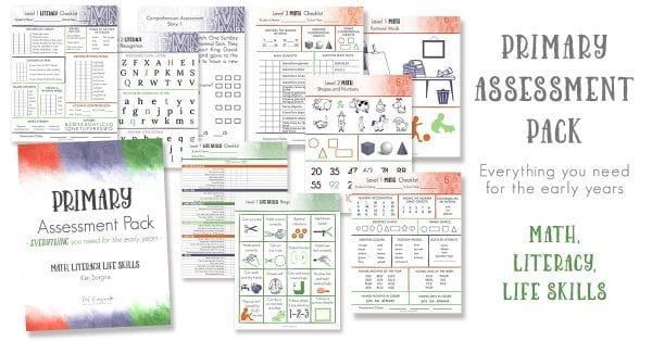 primary assessment pack for homeschool