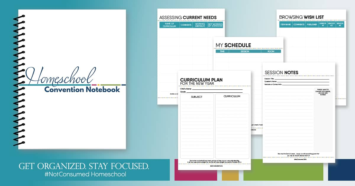 printable homeschool convention notebook