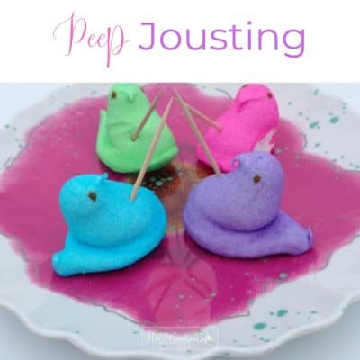 Peep jousting. One of 5 fun games for your next family fun night.