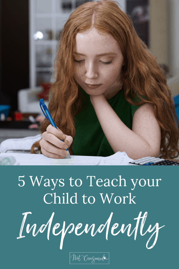 5 ways to teach your child to work independently