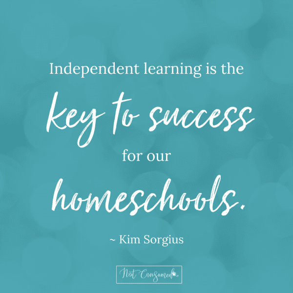 keys to success for homeschool independent learning