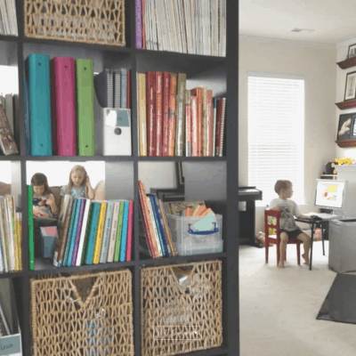 open concept homeschool room idea