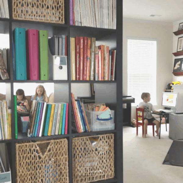 open concept homeschool room idea
