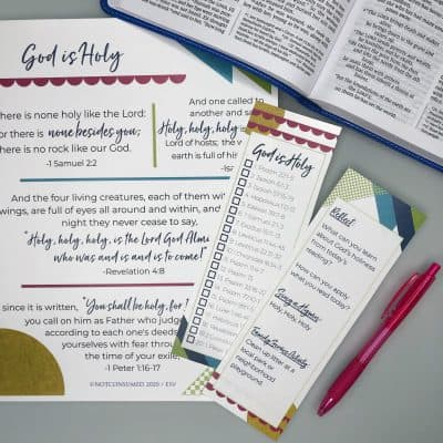 scripture printable bookmark