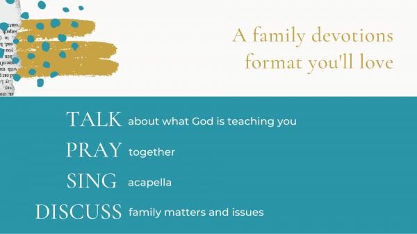 family devotions format