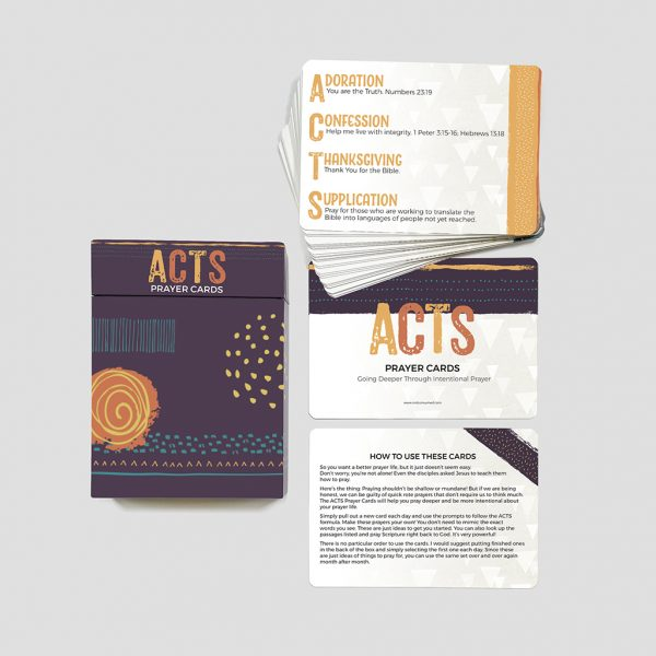 ACTS prayer cards