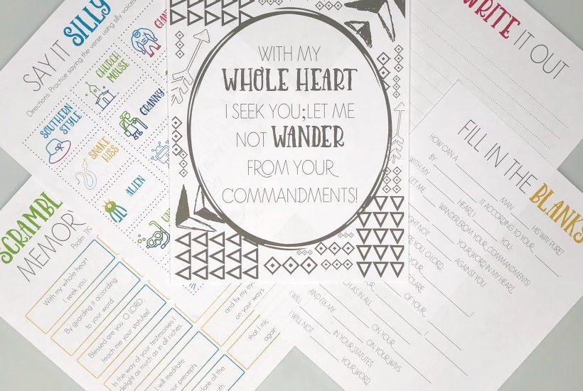 Psalm 119 printable