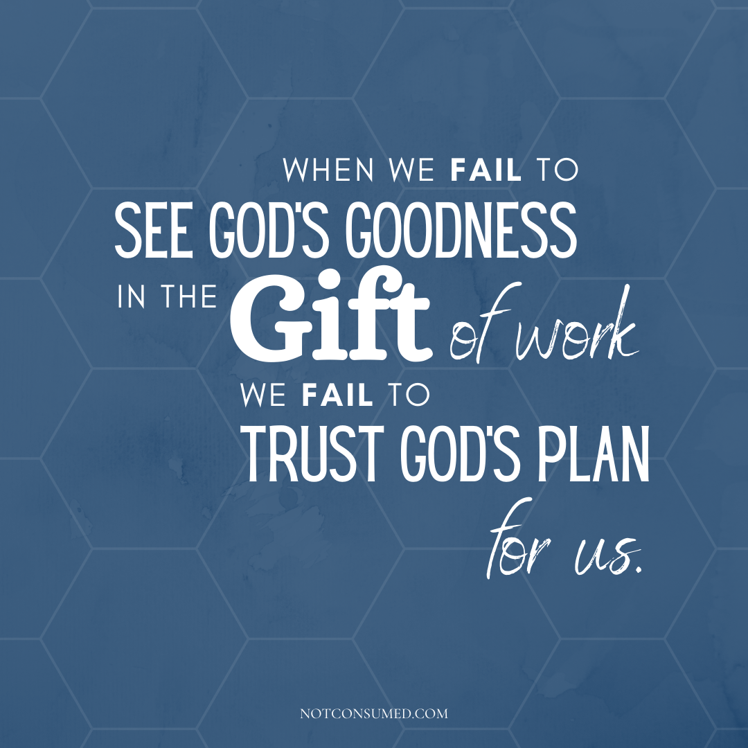 see God's goodness in the gift of work