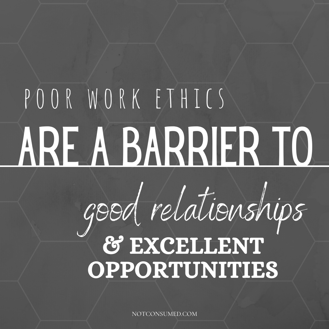poor work ethics are a barrier