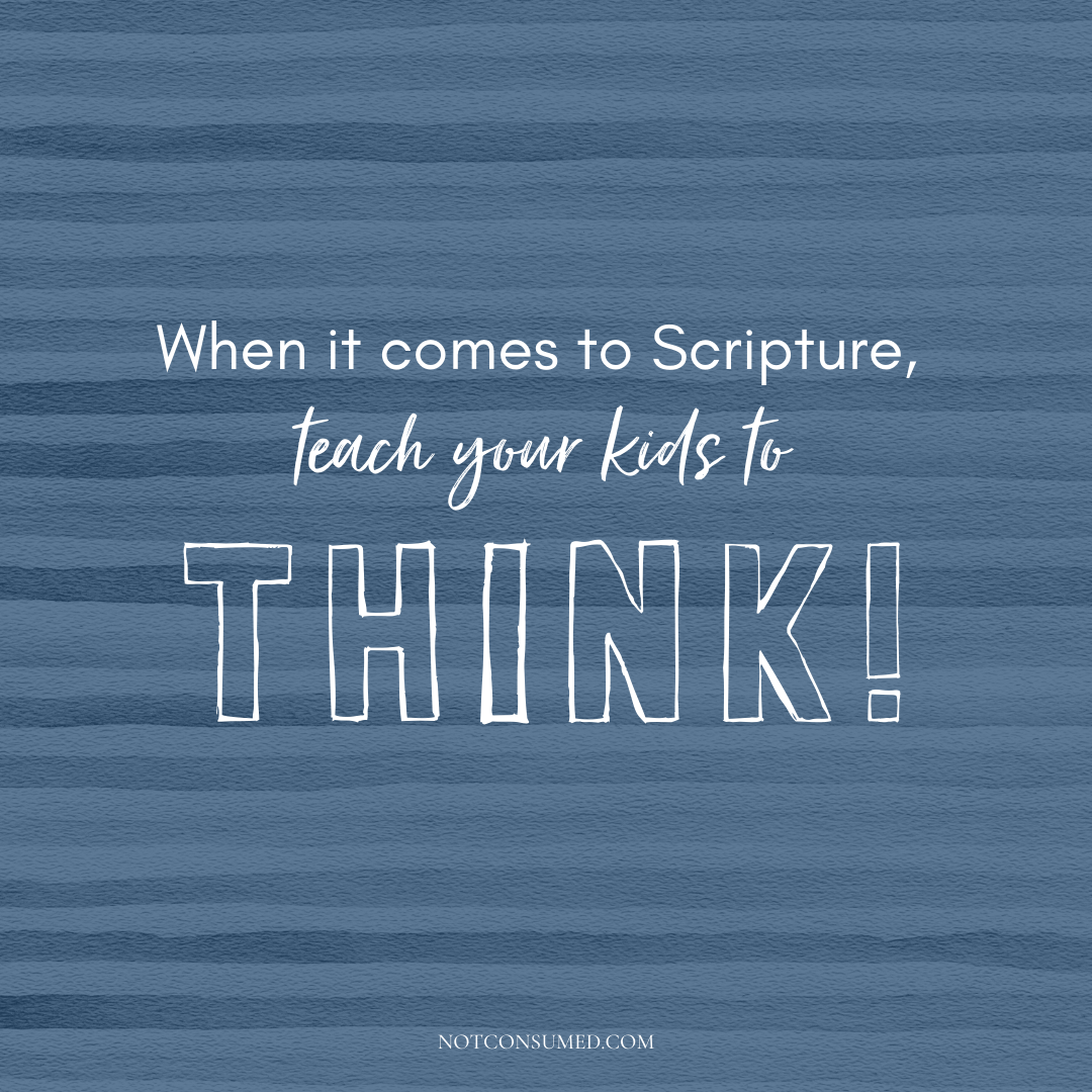Think about scripture for kids