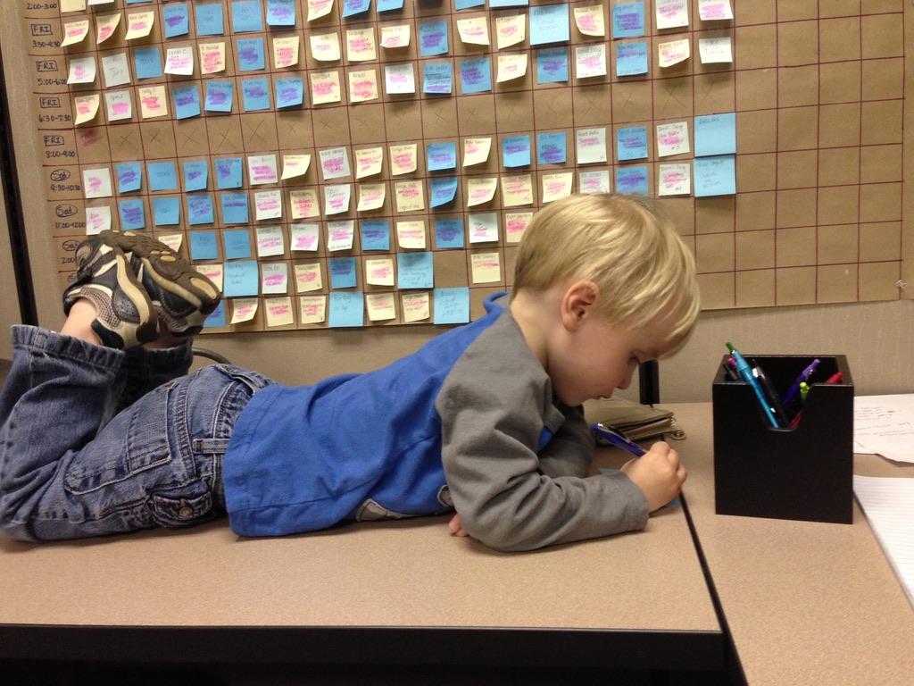 homeschooling single mom kid on desk