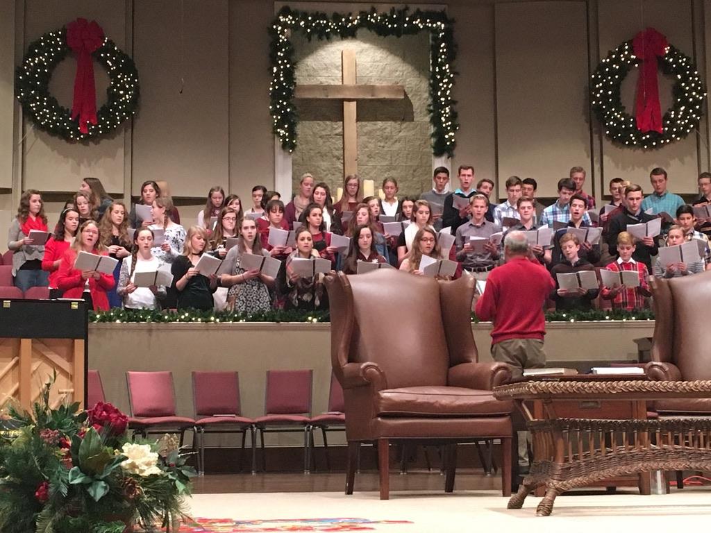 teen choir at church