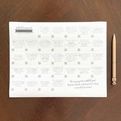 Back to School Prayers: Free Printable Calendar