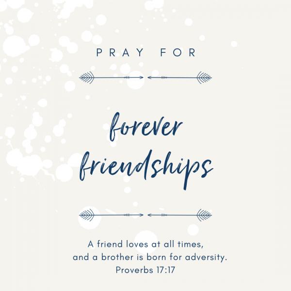 friendship prayers: forever friendships