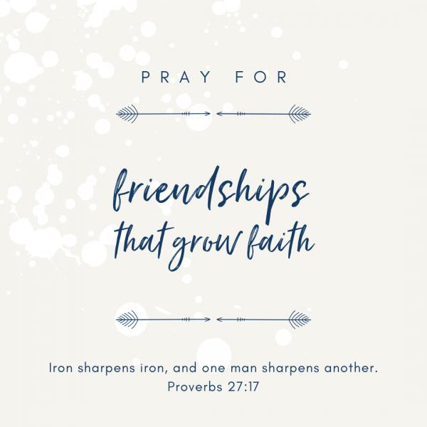 friendships grow faith